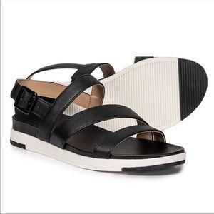 Naturalizer Black Leather Strappy Sandals EUC